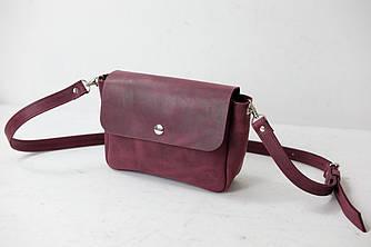 """Женская кожаная сумка """"Макарун XL"""", Винтажная кожа, цвет Бордо"""