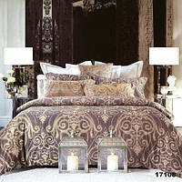 """Полуторное постельное белье """"Королевский шарм"""" коричневое"""