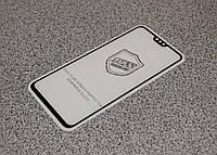 Защитное стекло 5D Люкс Honor 8X Черное ((0.3mm 9H))