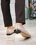 Шикарные бежевые кожаные туфли лоферы с декором, фото 5
