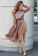 Женское платье из шёлка с длинным рукавом
