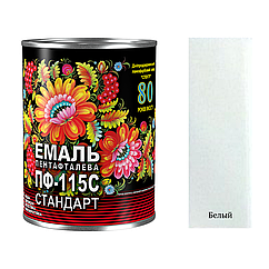 Универсальная алкидная эмаль Спектр Пф-115 0,9кг (Белый)