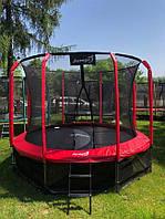 Батут для детей Jumpi Premium 10FT 312 см. красный с внутр. сеткой!