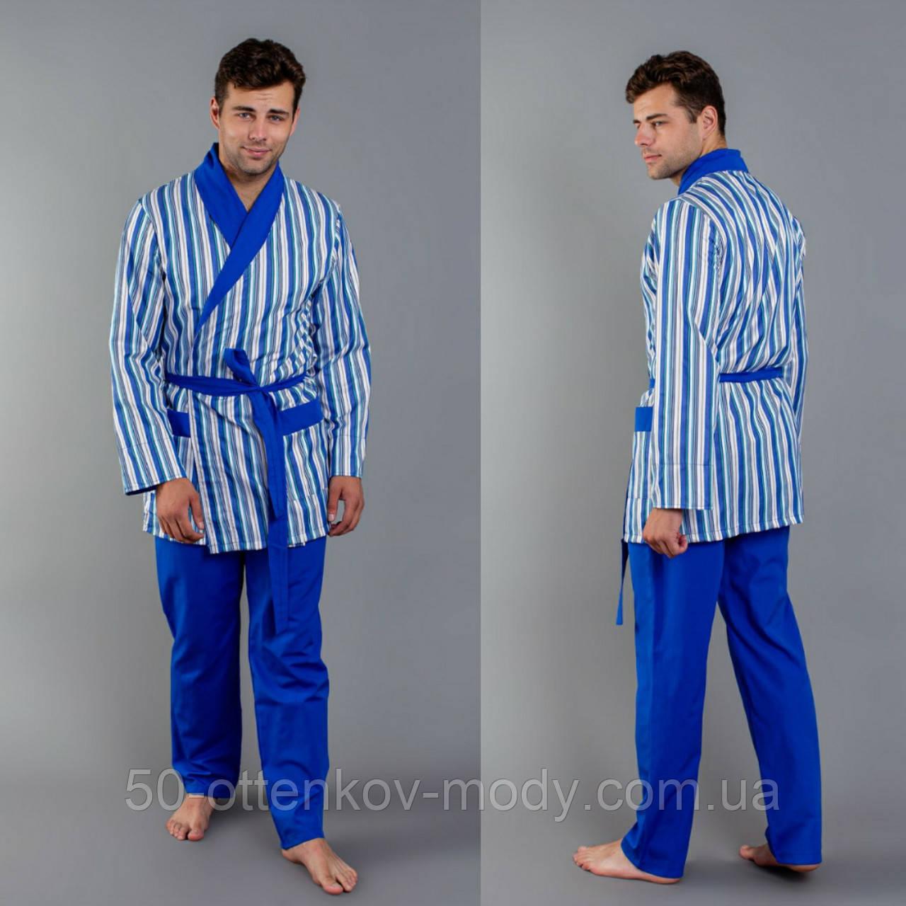 Мужская пижама сатиновая