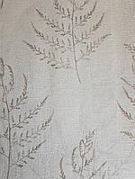 Обои виниловые на флизелине Grandeco Nordic Elegance NG2205 ветки коричневые на белом с серебром фоне