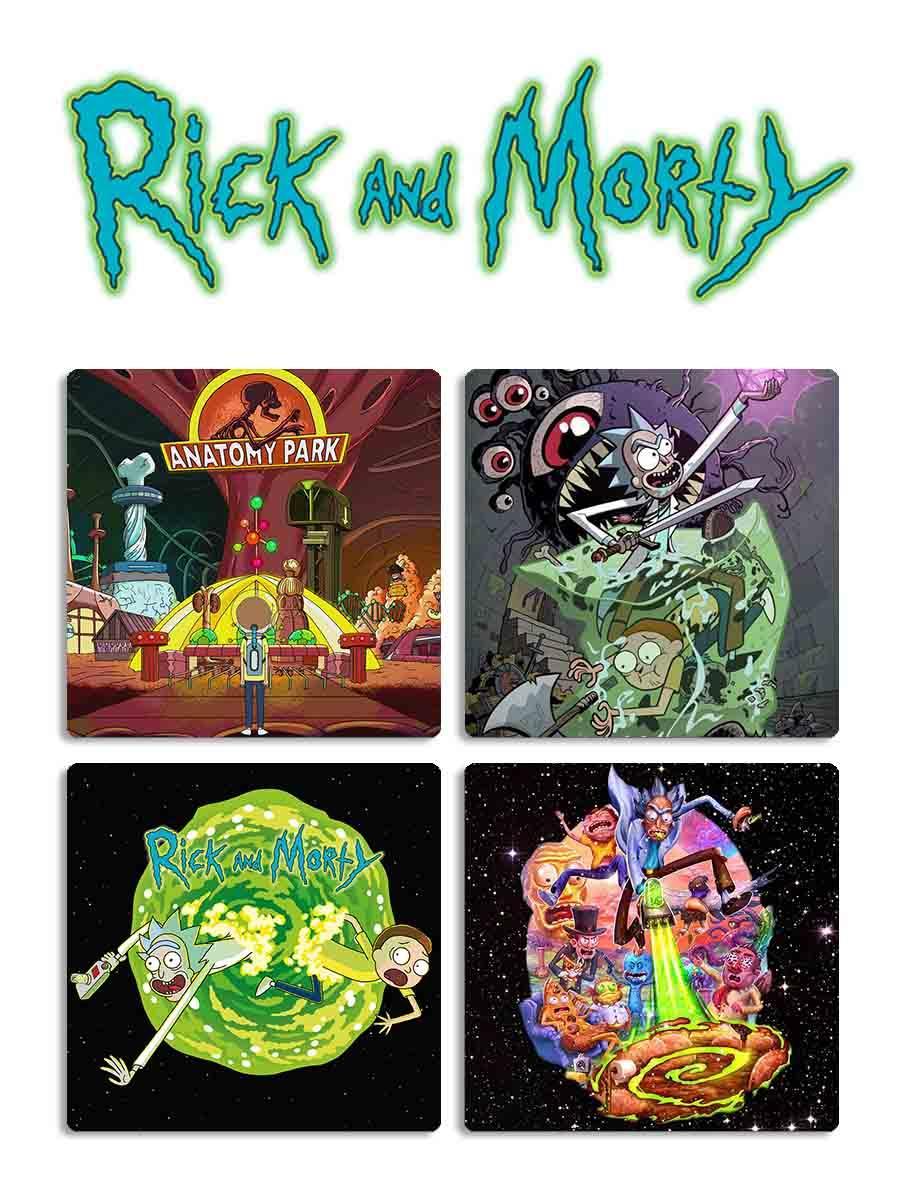 Подставка под чашку Рик и Морти / Rick and Morty