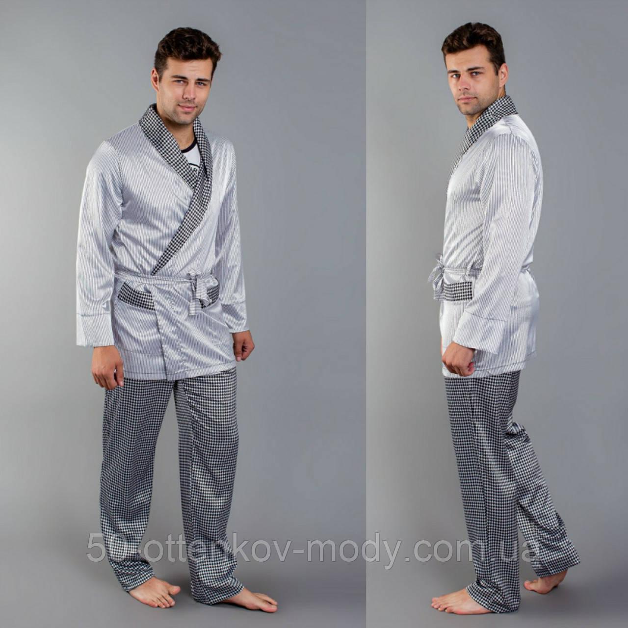 Мужская пижама шелковая