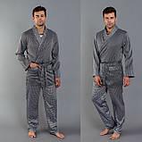 Мужская пижама шелковая, фото 2