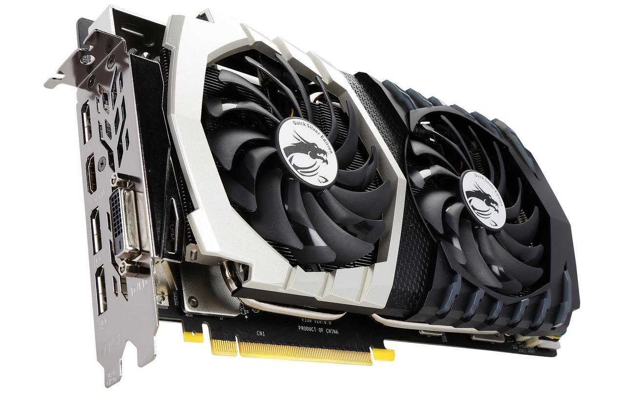 Видеокарта MSI GeForce GTX 1070 Quick Silver 8G OC GDDR5  Б/У
