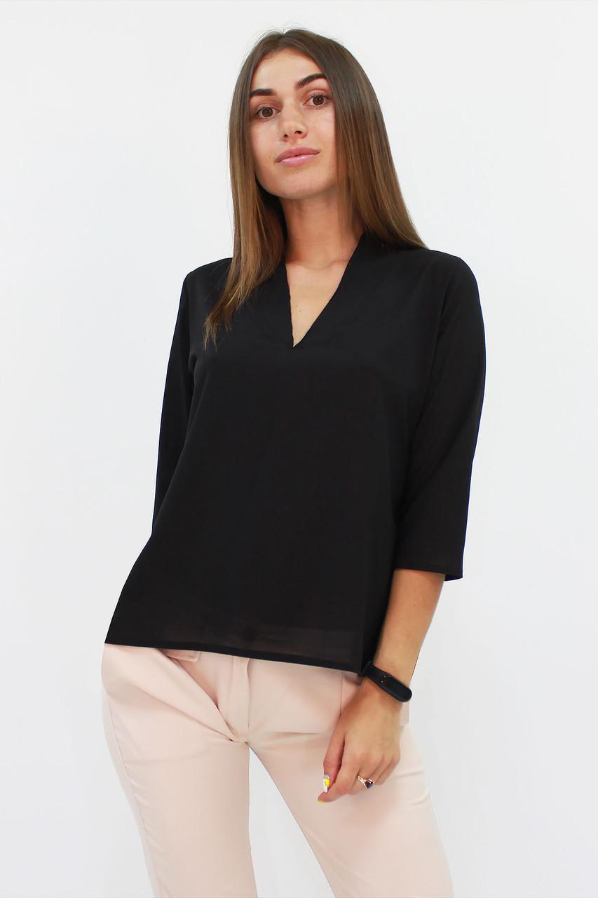 S, M, L, XL / Класична жіноча блузка Lorein, чорний