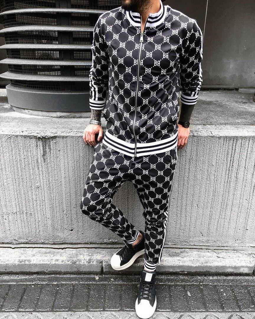 Мужской спортивный костюм (черно-белый) - Турция
