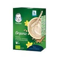 Детская каша Gerber  сухая безмолочная  органическая Пшенично-овсяная  ваниль