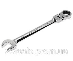 Ключ рожково-накидной с трещоткой (шарнир) 17 мм   JTC 3457 JTC