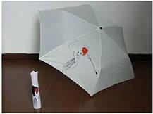 Оригинальный подарочный зонт в футляре Роза в вазе, фото 3