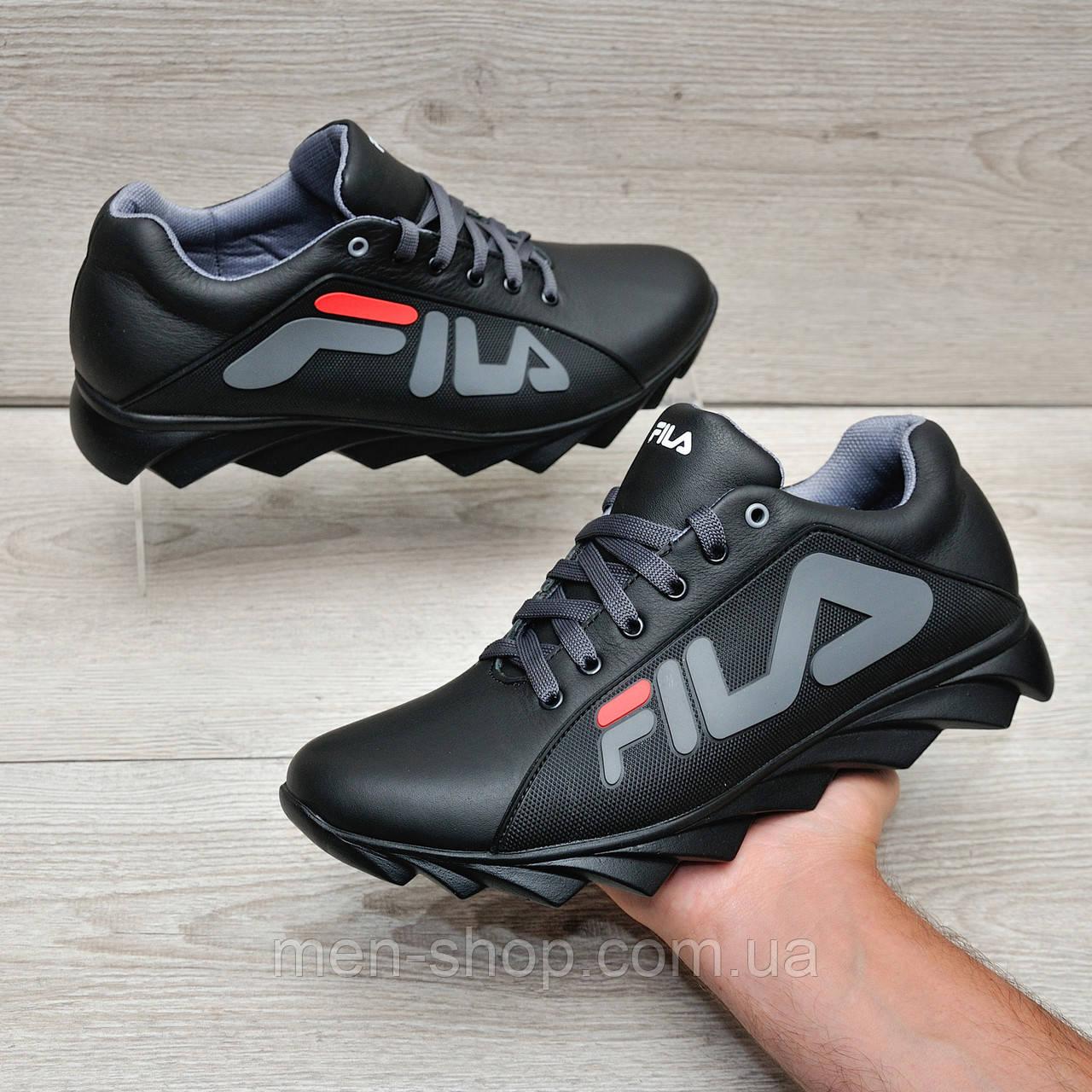 Кожаные кроссовки в стиле Fila