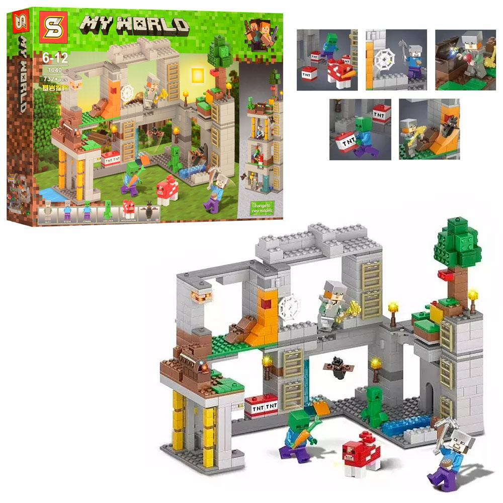 Конструктор SY1040 (Аналог Lego Minecraft) Споруда (732 деталі)