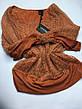 Светр жіночий ажурний теракотовий з люрексом і шарфиком Coconuda, фото 6