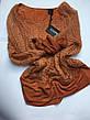Светр жіночий ажурний теракотовий з люрексом і шарфиком Coconuda, фото 5