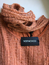 Светр жіночий ажурний теракотовий з люрексом і шарфиком Coconuda, фото 3