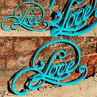 """Декоративная табличка """"Love"""", фото 1"""