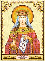 Схема для вышивки иконы бисером на натуральном художественном холсте Святая Варвара