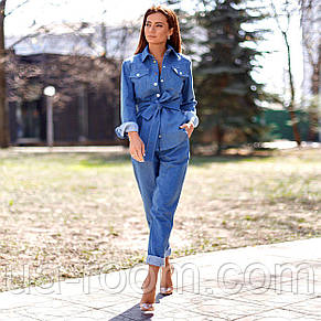 Стильный женский костюм 3 в 1: брюки+топ+пиджак №554, фото 2