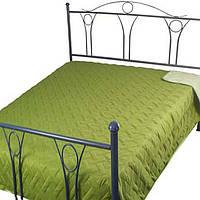 """Покрывало на кровать Руно™ """"Green"""" двустороннее 212х240см Лилия, фото 1"""