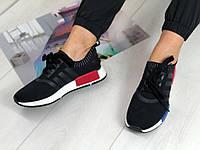 Мягкие черные женские кроссовки  36 37р  полномерные