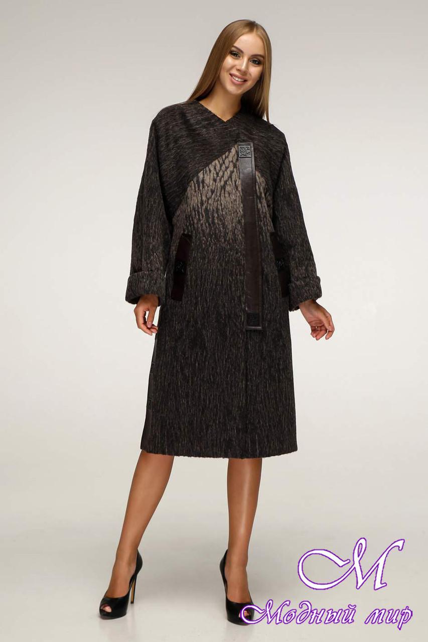 Женское пальто демисезонное из шерсти (р. 44-54) арт. 1171 Тон 108