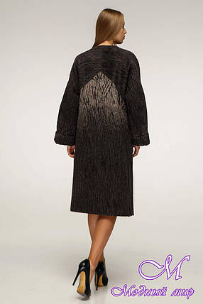 Женское пальто демисезонное из шерсти (р. 44-54) арт. 1171 Тон 108, фото 2