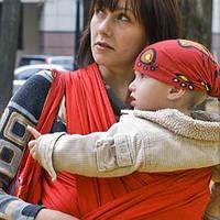 Слинг-шарф NATIBABY Red (4,6 м), фото 1