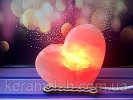 Соляная лампа сердце 13*13*6 см