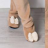Женские домашние махровые сапожки балетки с бантиком!, фото 3