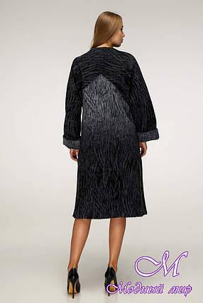 Демисезонное пальто женское из шерсти (р. 44-54) арт. 1171 Тон 114, фото 2