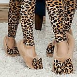 Женские домашние махровые сапожки балетки с бантиком!, фото 5