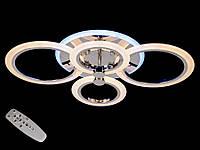 Светодиодная люстра с пультом-диммером и цветной подсветкой хром А-8022-4, фото 1