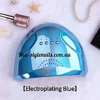 Гибридная лампа Sun One для сушки ногтей UV/LED 48w, зеркально-голубой