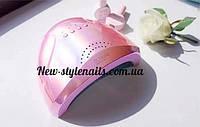 Гибридная лампа Sun One для сушки ногтей UV/LED 48w, зеркально-розовый
