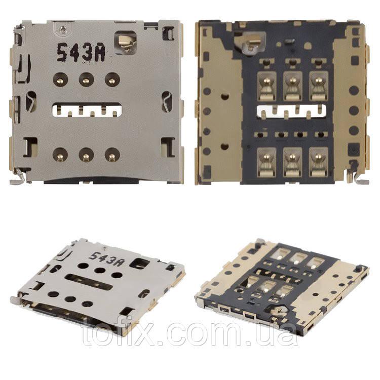 Коннектор SIM-карты для Huawei Ascend P7, оригинал