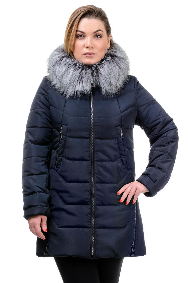 Зимняя женская куртка Ника темно-синяя