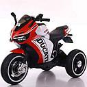 Дитячий електромобіль Мотоцикл M 4053 L-3, шкіра, світло коліс, дитячий електромобіль, фото 2