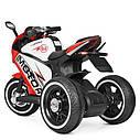 Дитячий електромобіль Мотоцикл M 4053 L-3, шкіра, світло коліс, дитячий електромобіль, фото 5