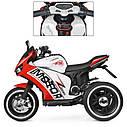 Дитячий електромобіль Мотоцикл M 4053 L-3, шкіра, світло коліс, дитячий електромобіль, фото 3