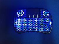 Беспроводная мини клавиатура с тачпадом MWK08/i8 LED (Blue), фото 1