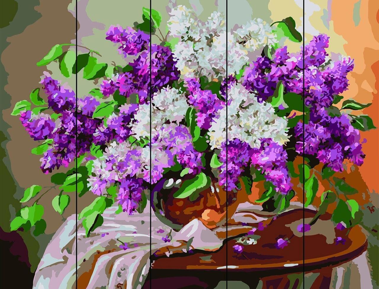 Рисование по номерам по дереву Сирень на столике Rainbow Art RA-F9 40 х 50 см