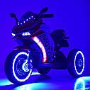 Дитячий електромобіль Мотоцикл M 4053 L-5, шкіра, світло коліс, дитячий електромобіль, фото 6