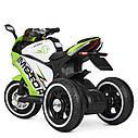 Дитячий електромобіль Мотоцикл M 4053 L-5, шкіра, світло коліс, дитячий електромобіль, фото 5