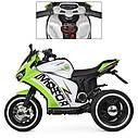Дитячий електромобіль Мотоцикл M 4053 L-5, шкіра, світло коліс, дитячий електромобіль, фото 3