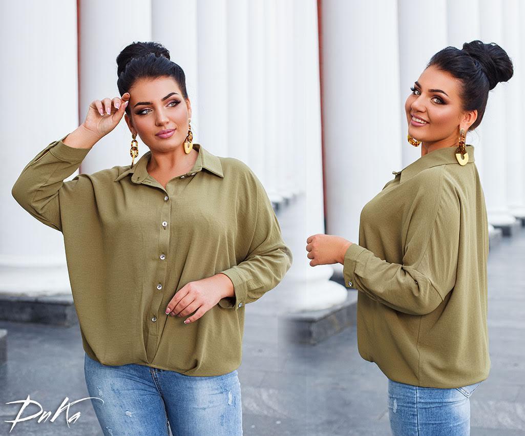 Рубашка женская 41328дг батал