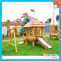 Деревянная детская площадка TokarMebel «Курень»
